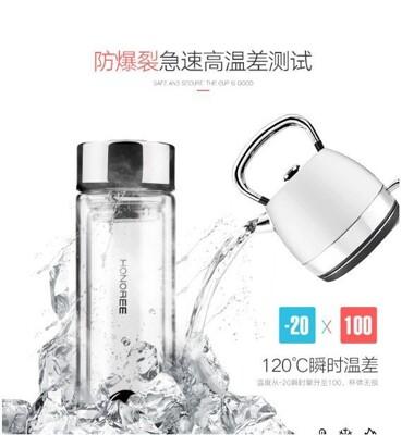 【保固一年 無條件更換】泓佳 真空 強玻璃內膽 保溫 玻璃杯 透明 泡茶 保溫杯 保溫瓶DVY (5.7折)