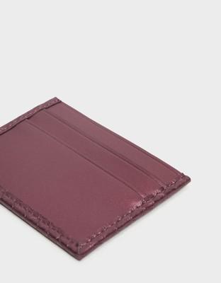 【直飛現貨 正品保證】小CK 簡約票卡夾(深紫紅)錢包 CK6-50680729 皮夾 皮包DYD (6.6折)