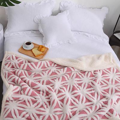 《雙人款》法蘭絨毛毯雙層加厚羊羔絨秋冬沙發蓋毯 單雙人毛毯 (9.1折)