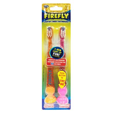 【美國Dr. Fresh】Firefly計時發光兒童牙刷2入 (4.7折)