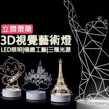 3D立體鐳雕LED視覺燈 (3.1折)