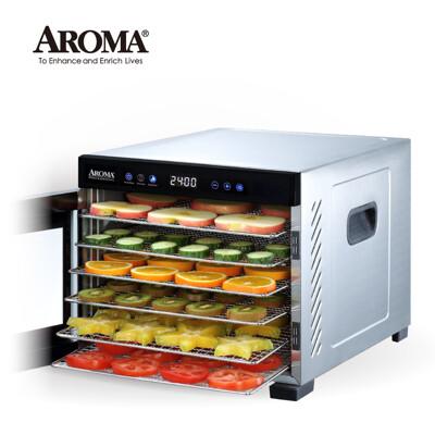 【強勢升級款】美國 AROMA 紫外線全金屬六層乾果機 食物乾燥機 果乾機 AFD-965SDU (6.2折)