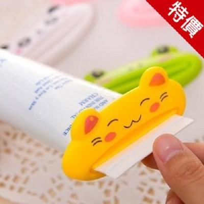 多功能自動擠牙膏機可愛卡通擠牙膏器(4入) 洗面乳擠壓器(顏色隨機發貨)【AE04090-4】 (3.3折)