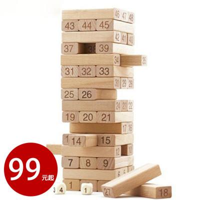 創意益智桌遊玩具 積木疊疊樂 送4顆骰子 數字層層疊【AE09037】 (3.3折)