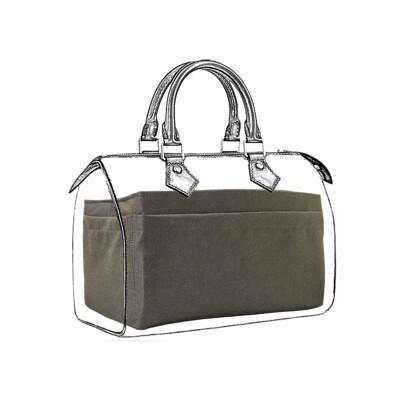 名牌包收納包中包|適用LV Speedy 25專用內層收納袋中袋|織紋咖啡【歐必買ObuyNow】 (7.8折)