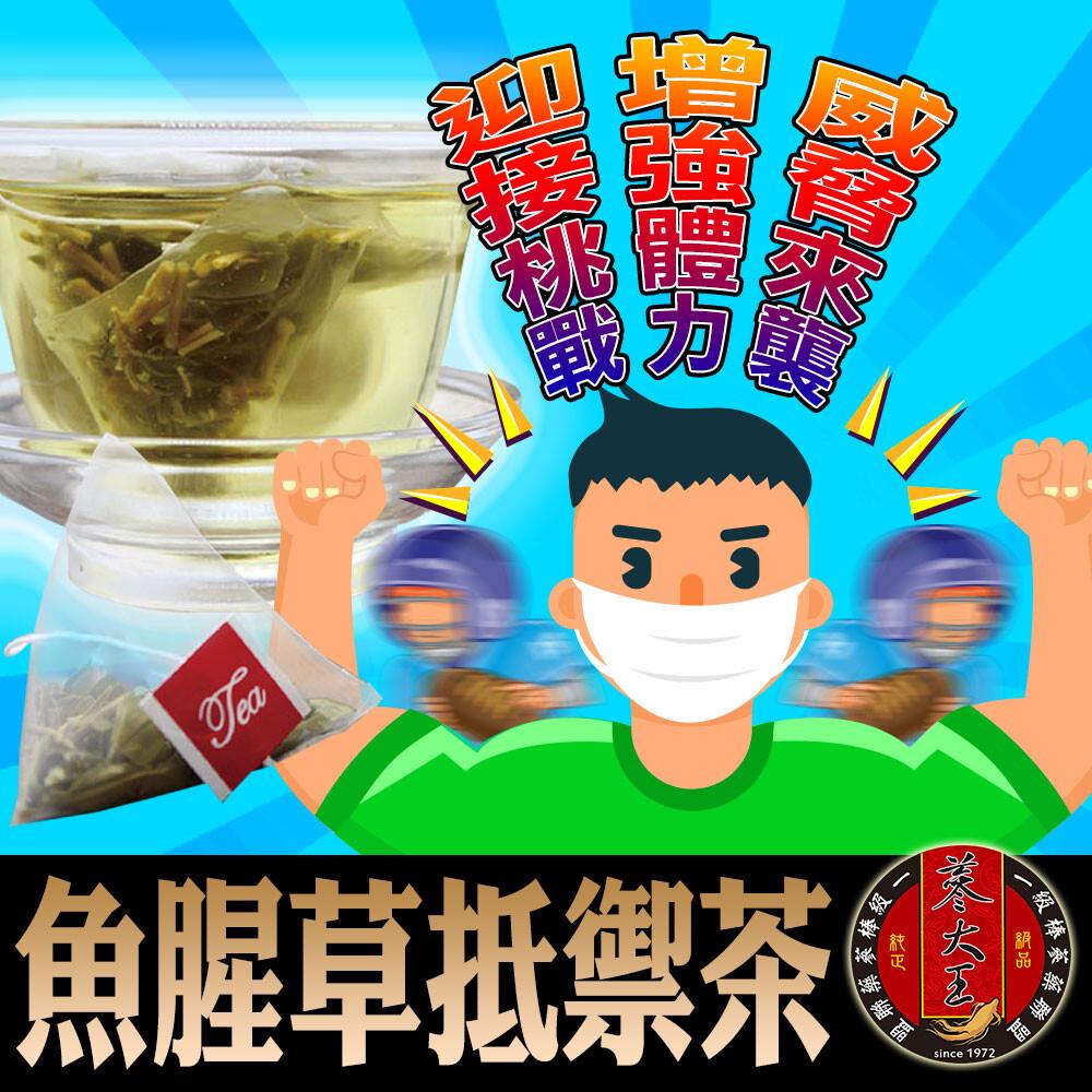 蔘大王魚腥草抵禦茶 艱困時期真安心正氣在前 健康安全(6g/入)