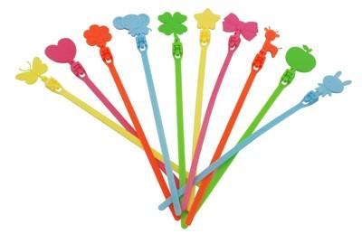 【凱樂絲】可愛造型重覆使用束帶/札線帶 (旅行收納幫手)顏色造型隨機出貨 (7折)