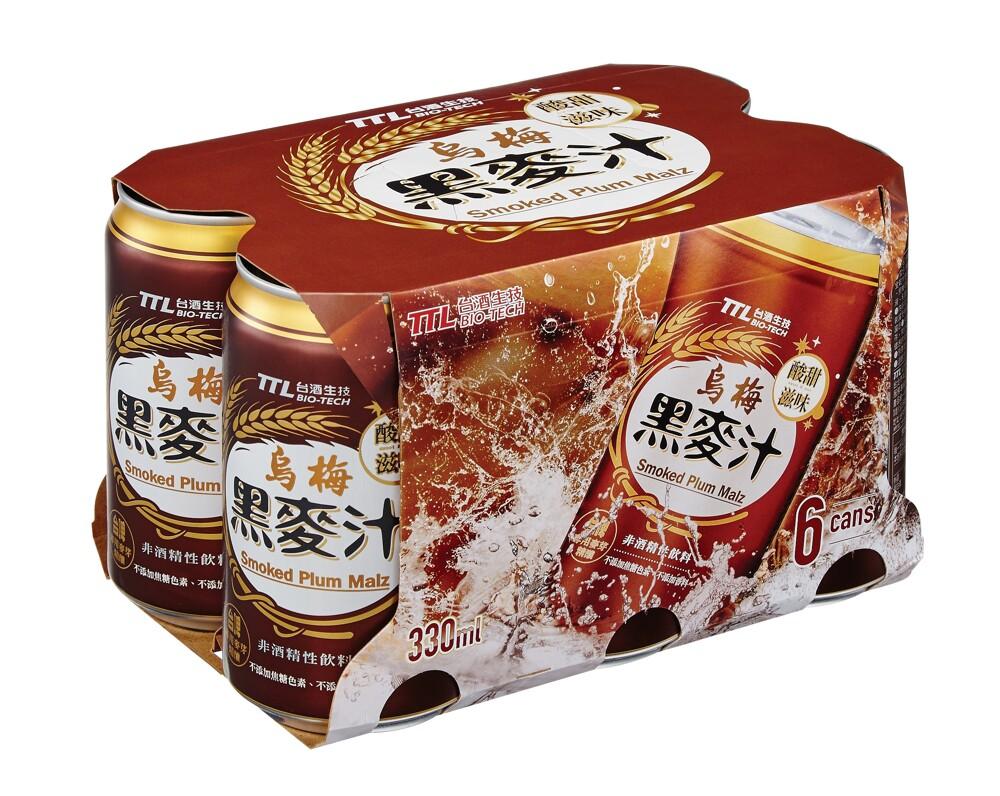 台酒ttl台酒烏梅黑麥汁(全素)-6罐/入