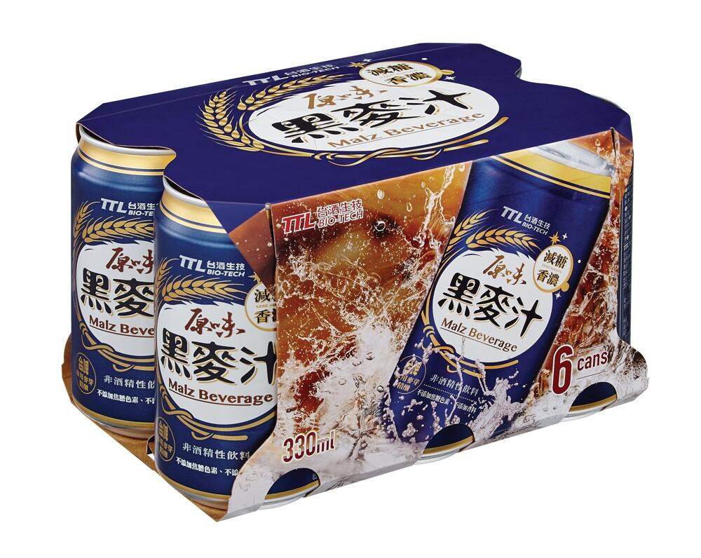 台酒ttl台酒原味黑麥汁(全素)-6罐/入