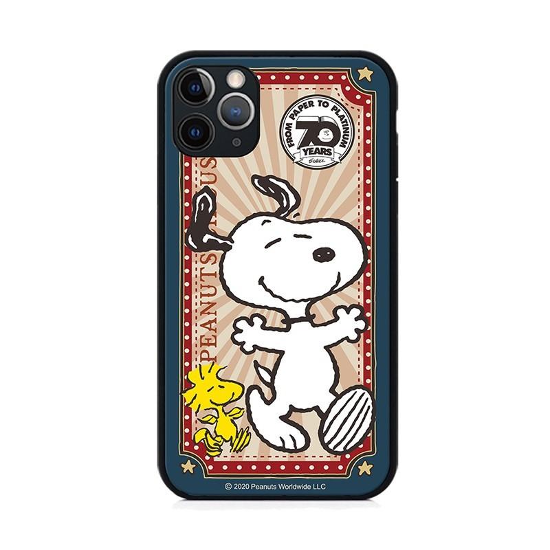 正版授權snoopy iphone 11系列 全包邊鋼化玻璃保護殼- 復古70