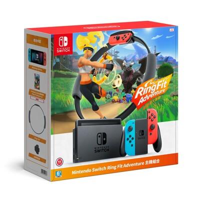 【0卡分期】任天堂NS Switch 加強電力版+健身環大冒險 含遊戲片 台灣公司貨 贈玻璃保護貼 (6.3折)