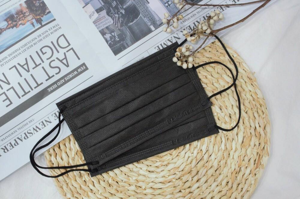 黑色口罩令和醫療口罩 大人款 神秘黑 盒裝50入 台灣製 雙鋼印