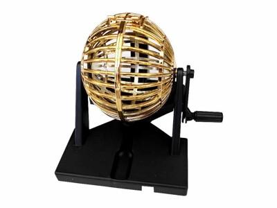 【樂透搖獎機】賓果機 抽獎機 手動搖獎機 鍍金圓球賓果 (BN-450型)台灣製造 (6折)