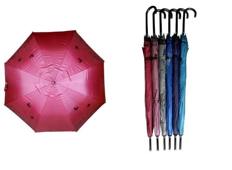23英吋色膠布自動傘宮廷傘 不透光.防強風 晴雨傘