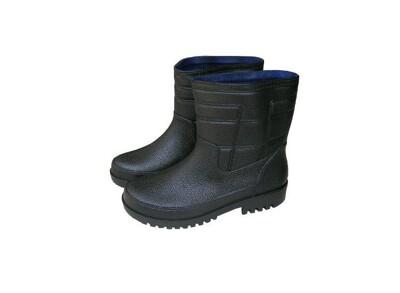 【防水鞋 晴雨鞋 】短筒雨鞋 登山雨鞋 男用雨鞋 皇力牌晴雨兩用休閒男鞋-黑色 (4.8折)