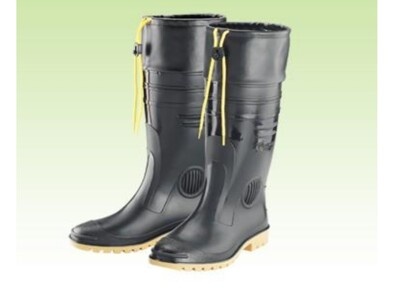 【登山雨鞋】護口雨鞋 長筒雨鞋 高級男用全長雙色雨鞋(加長皮套) 皇力牌 (7.1折)