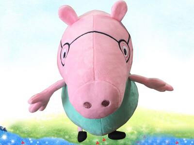 粉紅豬小妹  絨毛布偶  佩佩豬  喬治豬  爸爸豬  媽媽豬  12吋 (6.9折)