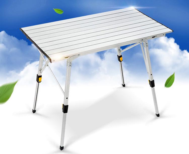 鋁合金蛋捲桌 折疊桌 無段升降桌 行動餐桌 附贈可揹式收納袋