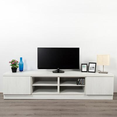 【ARKHOUSE雅客家居】伯利恆系列-客廳雙抽四格電視矮櫃 W210*H49*D50 (9.2折)