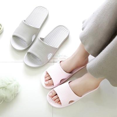 春夏日式EVA防滑厚底室內素色拖鞋 (4.2折)