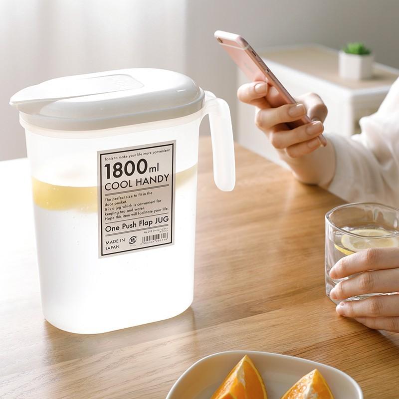 冰水涼水杯冷水壺塑料帶蓋耐熱水壺家用大容量果汁飲料壺 -