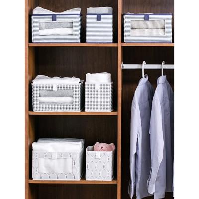 居家家可折疊布藝收納箱透明窗大號玩具儲物盒家用衣柜衣服整理箱 - (10折)