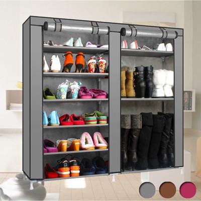 超大容量雙排防塵鞋櫃 (3.3折)