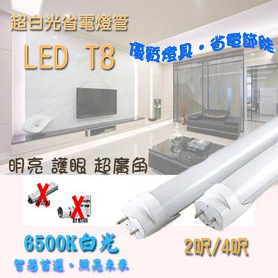 超白光省電LED T8燈管 9W2呎 (2.1折)