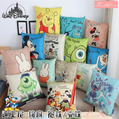 【Luna Vita x Disney】迪士尼正版卡通 棉麻抱枕/靠枕(多款可選) (7折)