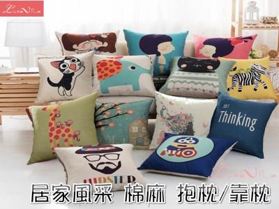 【Luna Vita】居家簡約風采棉麻 靠枕/抱枕(12款可選) (3.8折)