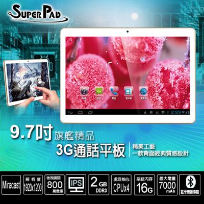 SuperPad 9.7吋 聯發科 四核心 3G通話 IPS 2G/16G (6.7折)
