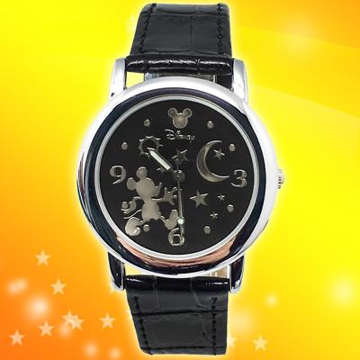 【迪士尼】夢幻星空米奇皮帶手錶 (6折)