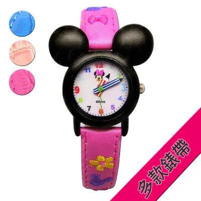 【Disney迪士尼】3D米妮 minnie造型兒童錶 (3折)