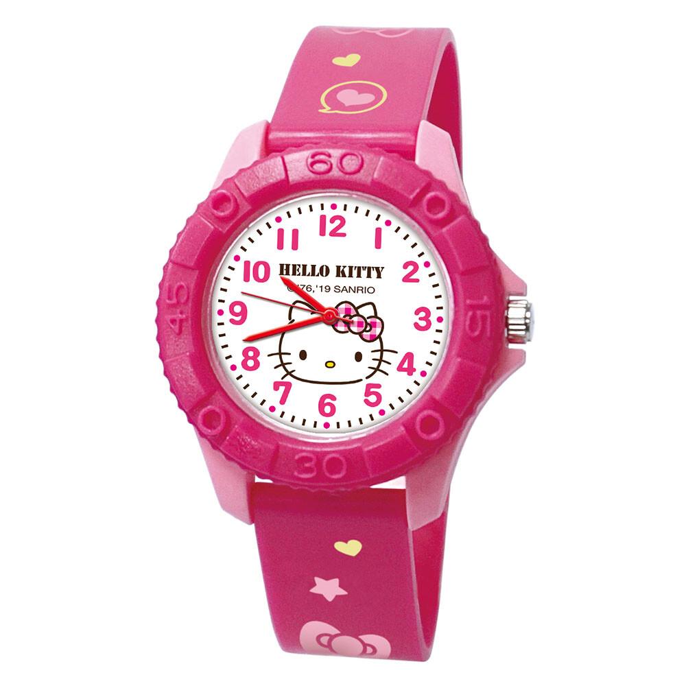 sanrio三麗鷗大頭kitty 雙色殼兒童手錶_桃紅色/正版授權