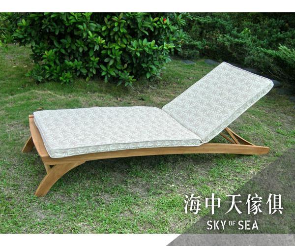 {{ 海中天休閒傢俱廣場 }} c-52 戶外休閒桌椅#313t-c 柚木躺椅含椅墊