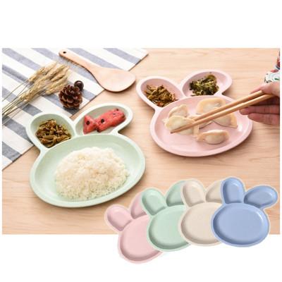 北歐風小麥兔兔造型餐盤 (2.3折)