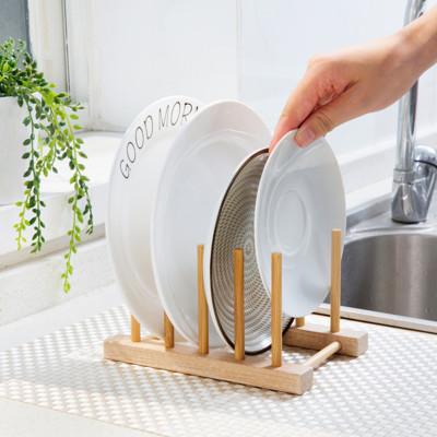 日式DIY天然竹木瀝水餐盤收納架 (2.4折)