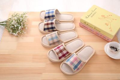 韓版亞麻四季居家室內鞋 (1.2折)