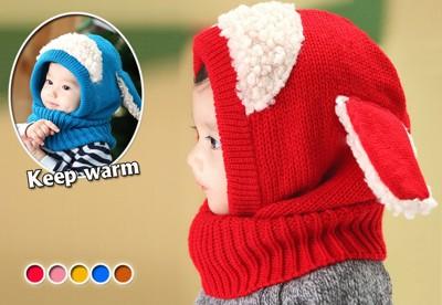 兒童保暖套頭兩用圍脖 (2.1折)