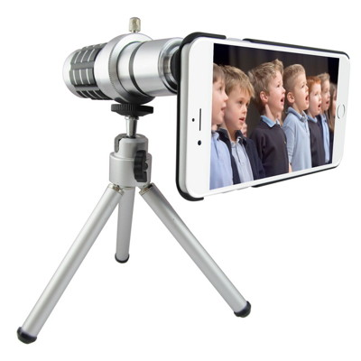 TS25銀砲管 iphone6 plus(5.5吋)專用型 望遠鏡頭組(16倍光學變焦) (2.7折)