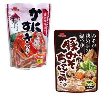 ☆潼漾小舖☆日本 Ichibiki 火鍋湯底 750ml (螃蟹/豚骨味噌 兩種口味) (5折)