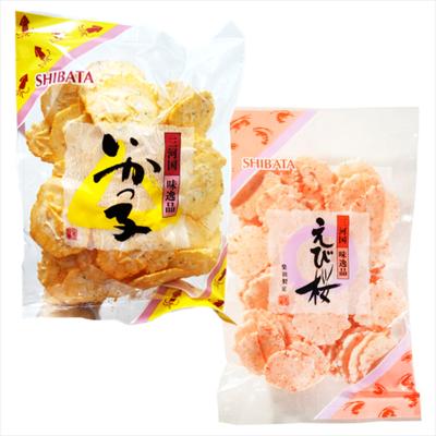 潼漾小舖 柴田 子 墨魚薄餅 100g /桜 櫻花蝦餅 110g (5.6折)