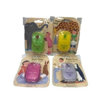 ☆潼漾小舖☆日本 CHARLEY 攜帶式 方便抽取 paper soap 紙香皂 50枚 (6折)