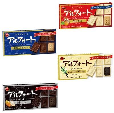 ☆潼漾小舖☆ 北日本 Alfort 帆船巧克力餅乾 原味/黑巧克力/香草味/焦糖味 (5.3折)