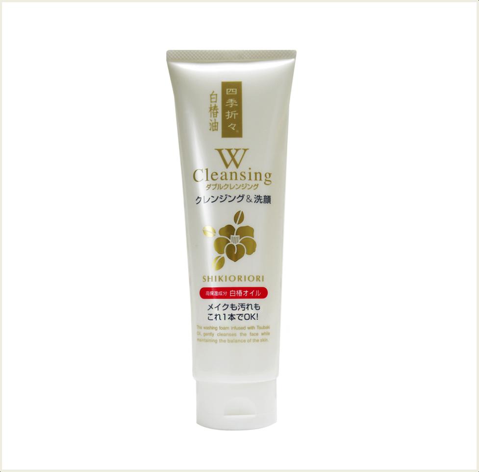 潼漾小舖 日本熊野 四季折 白椿油 洗卸雙效洗面乳 190g