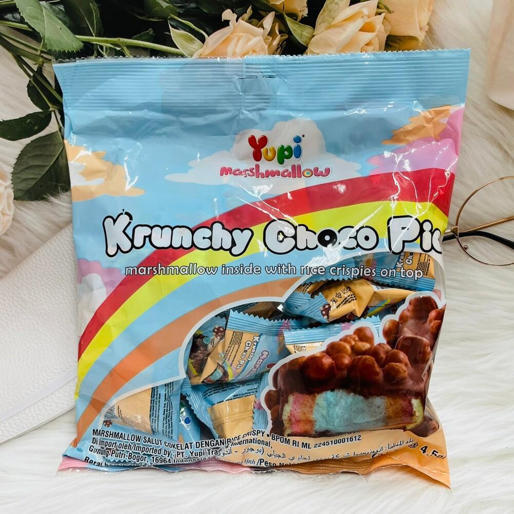 潼漾小舖 菲律賓 yupi 呦皮脆米巧克力棉花糖 彩虹棉花糖 108g 一大包24小包入