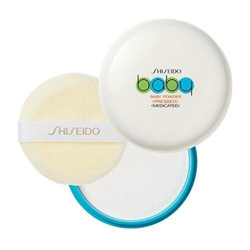 潼漾小舖日本製 資生堂 shiseido 攜帶式 固體寶寶爽身粉餅/痱子粉餅 50g