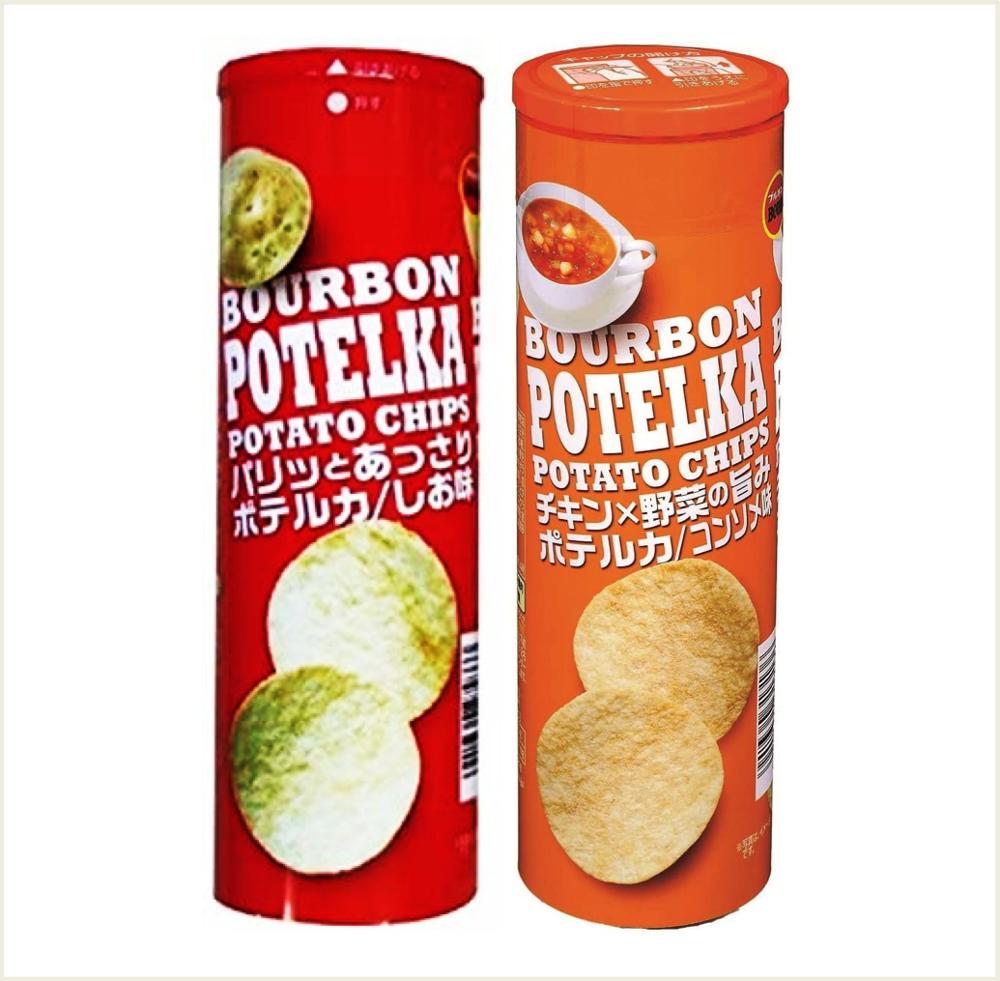 潼漾小舖 北日本 potelka 洋芋片 清湯味63g/鹽味65g