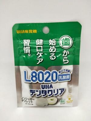 ☆潼漾小舖☆ 日本 健口習慣 UHA味覺糖 L8020 乳酸菌糖錠 7.8g/6粒 (8.3折)