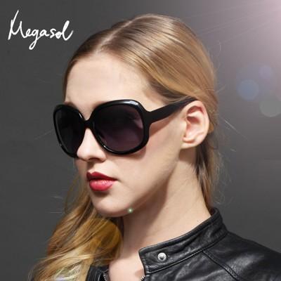【MEGASOL】寶麗萊DIOR設計師同款寶麗萊UV400偏光太陽眼鏡(MS3113)-咖啡、茶、黑 (8.5折)
